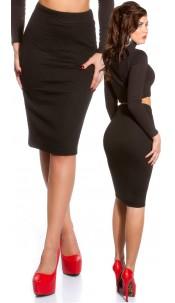 Sexy KouCla pencil skirt in HOT Rihanna Style Black