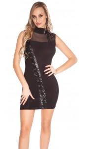 Sexy Disco-Minikleid Black