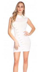 Sexy Disco-Minikleid White