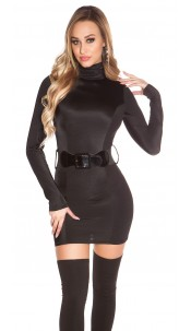 Sexy Minidress backfree with belt Black