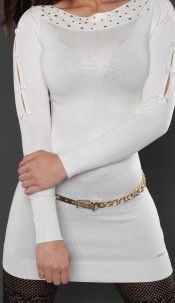 Sexy KouCla longsweater with bows White