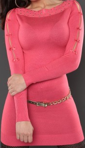 Sexy KouCla longsweater with bows Coral
