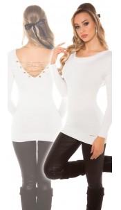 Sexy KouCla Longpulli with chains White
