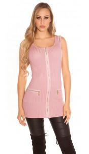 Sexy KouCla fineknit-minidress with zips Rose