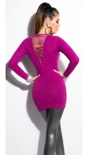 Sexy KouCla longsweater with pearls Violet