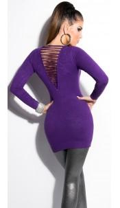 Sexy KouCla longsweater with pearls Purple