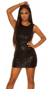Sexy KouCla Party minidress with sequin Black