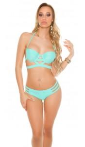 Sexy Bikini in Bondage Look padded Mint