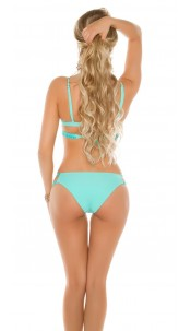 Sexy Balconet bikini with detachable straps Mint