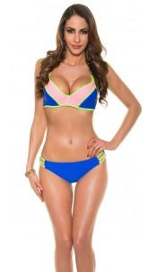 Sexy bikini with fancy bra clasp Royalblue