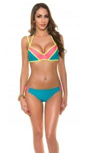Sexy bikini with fancy bra clasp Turquoise