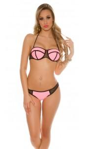 Sexy bikini with removable straps Salmon
