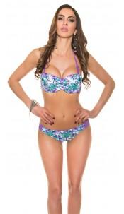 Sexy neckholder-bikini Purple