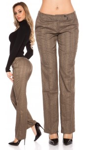 Sexy KouCla pants in square look with glitter Brownsilver