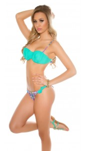 Sexy Balconet bikini with detachable straps Sapphire
