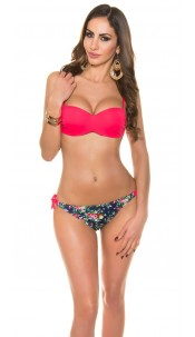 Sexy bikini with trendy flowerpants Neoncoral