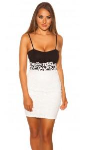 Sexy Koucla-mini dress with lace White