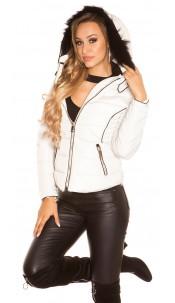 Trendy winter jacket with hood Beige