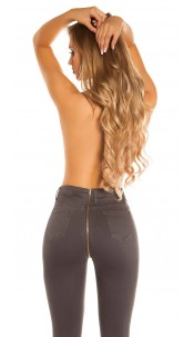 Sexy skinny jeans with zip at the back Anthracite