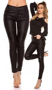 Sexy skinny Leatherlook pants Black