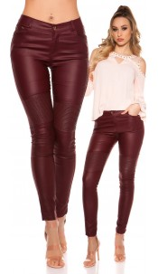 Sexy skinny Leatherlook pants Bordeaux