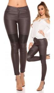 Sexy skinny Leatherlook pants Grey