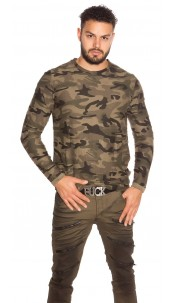 Trendy Men s Camouflage Shirt Used Look Cappuccino