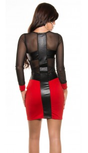 Sexy KouCla Party dress with sexy back Red