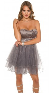 Sexy KouCla Party Cocktaildress with rhinestones Anthracite