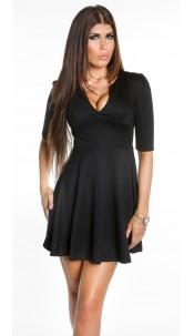 Sexy Koucla flared skirt mini dress Black