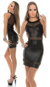Sexy KouCla minidress with sexy insight Black