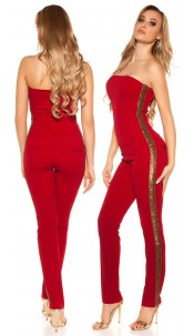 Sexy KouCla Bandeau Overall with sequins Bordeaux