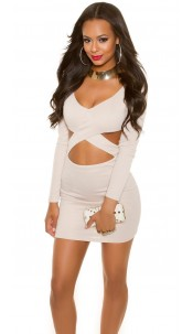 Sexy KouCla Party-MiniDress in KylieJ. Look Beige