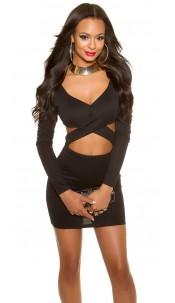 Sexy KouCla Party-MiniDress in KylieJ. Look Black