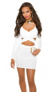 Sexy KouCla Party-MiniDress in KylieJ. Look White