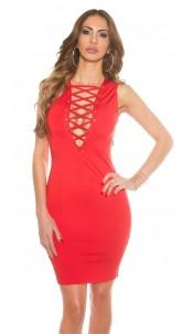 Sexy jurk met sexy veter rood