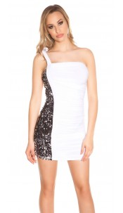 Sexy Party-Minidress with sequins White