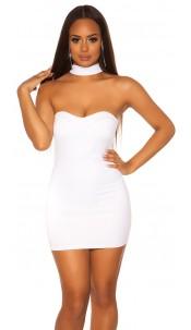 Sexy KouCla Neckholder/ Bandeaudress White