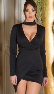Sexy KouCla wrap look mini dress Red