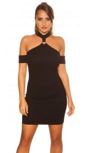 Sexy neckholder partydress Black
