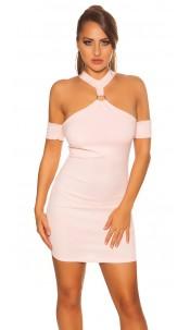 Sexy neckholder partydress Pink