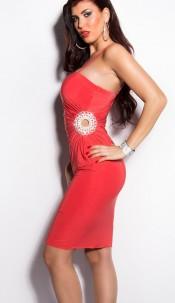 Sexy Gala-dress with rhinestones Raspberry