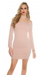 Sexy Neck minidress Antiquepink