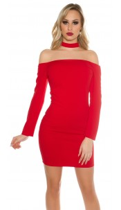 Sexy Neck minidress Red