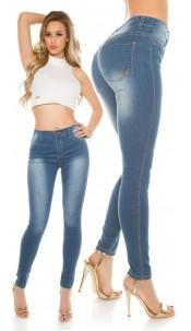 Sexy KouCla Highwaist Skinny Jeans light washed Jeansblue