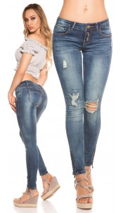 Sexy Koucla Jeans with rips Jeansblue