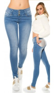 "Sexy Koucla ""MAGIC BOOTY"" Push Up skinnyJeans Jeansblue"