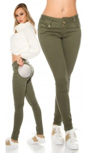 "Sexy Koucla ""MAGIC BOOTY"" Push Up skinnyJeans Khaki"
