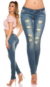 Sexy KouCla Skinnies in destroyed-look Jeansblue