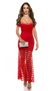 Red-Carpet-Look! Sexy Koucla evening dress laced Red